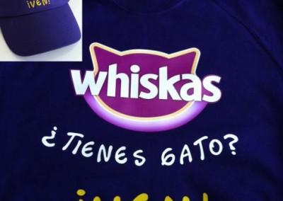 Camiseta promo Whiskas y gorra